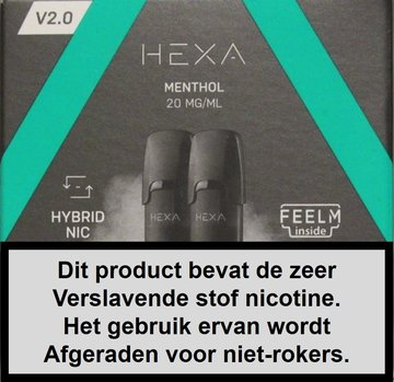 Hexa 2.0 pods - Menthol